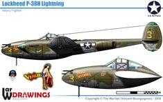 Lockheed P 38 Lightning, Aircraft Design, Korean War, Military Equipment, Nose Art, Model Airplanes, Military Aircraft, Ww2, Air Force