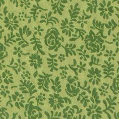 Mini floral e folhas (verde)