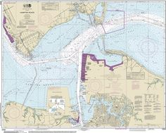 Official Noaa Chart of the Hampton Roads 12245 by HyannisMarina