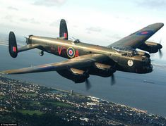 'We were incredibly close': A photograph taken of the Canadian Lancaster bomber from on bo...