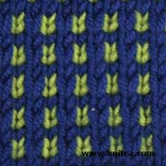 Here's a simple slip-stitch pattern that will look nice in any knitting project. The best part is this stitch pattern is perfect for using your odds and ends.