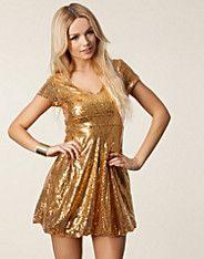 Nelly kleid gold