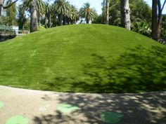 "This is an artificial grass slide that SYNLawn LA installed at the Santa Barbara Zoo in the kids play area. The kids slide down it on cardboard ""sleds!"" Pretty cool, eh? Call SYNLawn LA today at 866-739-LAWN (5296) and let us build your kids a synthetic grass slide in their very own backyard. You can also check out our website at www.discountartificialgrass.com for more artificial grass slide pictures and ideas!"