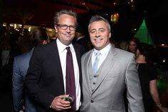 Matt LeBlanc and Matthew Perry reunited at a CBS party earlier this week and now our lives are complete once again.