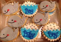 Beluga whale, baby, boy, shower, cookies