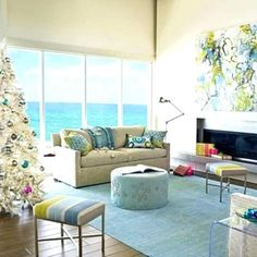 coastal living decorating ideas coastal living decor living room coastal living colors beach house b Decor, Room, Beach House Decor, Hamptons Decor, Coastal Christmas Tree, Coastal Style Living Room, Coastal Living Decor, Holiday Decor, Living Decor