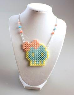 Kawaii Kandi Skull  Necklace by PeachMelody on Etsy, $12.00