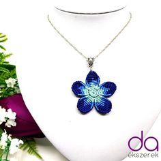 Flora nyaklánc – kék | DombiAnita Ékszerek Flora, Pendant Necklace, Jewelry, Jewlery, Bijoux, Schmuck, Plants, Jewerly, Jewels