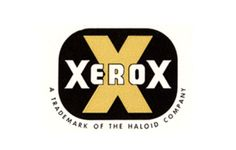 Xerox    Another fun one because it looks so dated, this is how I imagine all vintage things to look.
