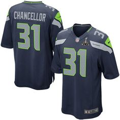 Seattle Seahawks Kam Chancellor Nike Super Bowl XLIX Bound Game Jersey