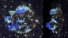 "Astronomical ""CAT scan"" reveals cavity-filled supernova interior By Chris Wood 2/4/15 The CfA team created a 3D map of the Cassiopeia A supernova explosion"