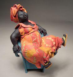 Title : Sitting Big Mama Description :Ceramic Sculpture Artist : AnniePeaker