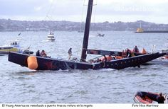 to much weight on the mast Sailing Yachts, Sailing Ships, Classic Wooden Boats, Classic Sailing, America's Cup, Cup Design, Sailboats, Water Crafts, Hugo Boss