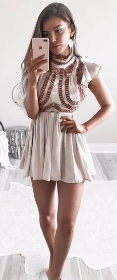 nude shade dress cute details