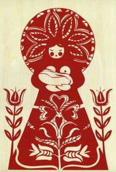Eastern European Breastfeeding Folk Art