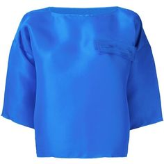Toogood 'The Potter' Top ($609) ❤ liked on Polyvore featuring tops, blue top, silk top, royal blue top, blue silk top and royal blue silk top