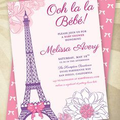 Paris baby shower party printable package invitation instant paris themed baby shower google search solutioingenieria Choice Image