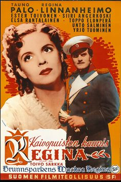 Kaivopuiston kaunis Regina (1941) Finland, Movie Tv, Elsa, Nostalgia, Character Design, Movie Posters, Design Ideas, Stars, Vintage