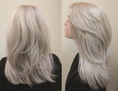by Jordanne at Monroeville Silver Blonde Hair, Balayage Ombré, Platinum Blonde Hair, Aesthetic Hair, Grunge Hair, Human Hair Extensions, Gorgeous Hair, Dyed Hair, Hair Inspiration