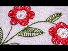 Elegant Embroidery Design | Buttonhole Stitch Flower | HandiWorks #79 - YouTube