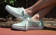 Studded VANS Shoes on Etsy, $95.00