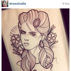 #Woman #Tattoo - (as seen on #Instagram: @drewshallis)