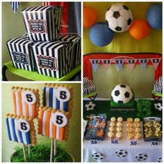 Soccer themed birthday party with Lots of Awesome Ideas via