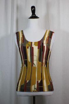 Nicola Women's Multi Color 100% Polyester Sleeveless Tank Top Blouse M #Nicola #TankCami #Casual