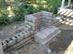 How To Build An Outdoor Fireplace With Cinder Blocks Google Search