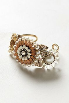 Gatsby cute! Pearled Hakea Cuff #anthropologie
