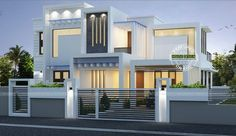 2224 Square Feet Square Meter) Square Yards) contemporary style house in majestic look. Design provided by Kerala Home Design. Architecture Design, Modern Architecture House, Amazing Architecture, Bungalow House Design, House Front Design, Front Elevation Designs, House Elevation, Contemporary House Plans, Contemporary Style Homes