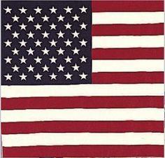 California Republic American Flag Bandana Bear American flag