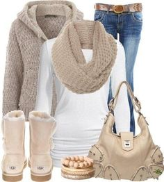 Like the neutral colors and look of clothes.  Not an Uggs girl.