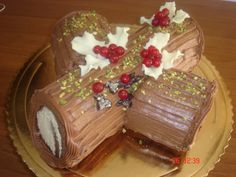 vaniglia e cioccolato: tronchetto di Natale con crema al caffè
