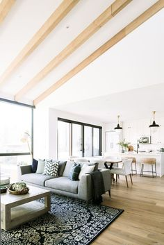 Gorgeous wood beams