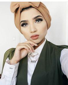 awesome cool Pinned via Arab Fashion, Islamic Fashion, Muslim Fashion, Mode Turban, Street Hijab, Hijab Collection, Turban Style, Hijab Tutorial, Beautiful Hijab