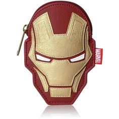 Loungefly Women's Marvel Iron Man Bag Coin Purse ($17) ❤ liked on Polyvore featuring bags, wallets, coin change purse, change purse wallet, loungefly bags, beige wallet and coin case