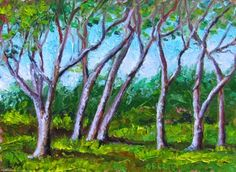 1552+In+The+Cool+Shade+of+the+Violet+Oaks,+painting+by+artist+Lori+McNamara