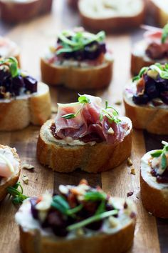 Goat Cheese and Prosciutto Crostini Two Ways - An easy, elegant and crowd-pleasing bite!