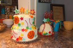 Sports 1st Birthday Cake