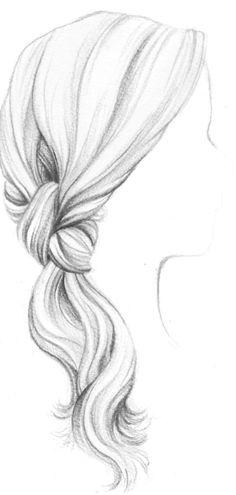 Dessin de Tresse Cheveux dessins de coiffure Pinterest
