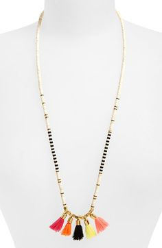 Panacea Mixed Tassel Beaded Necklace available at #Nordstrom