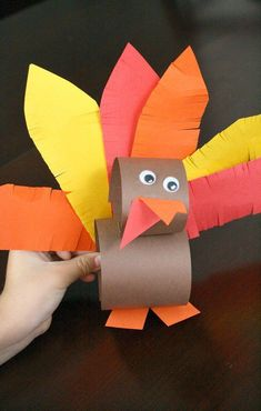 Paper Roll Thanksgiving Turkey Craft