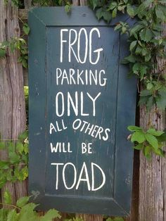 cute garden sign :)......lol...or fish