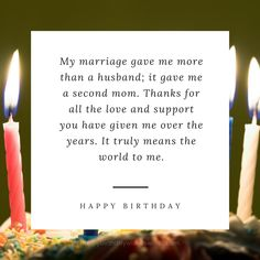 Happy birthday mother-in-law!