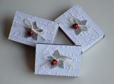 Weihnachtliche Streichholzschachteln - eine ausgesprochen nette und schöne Idee