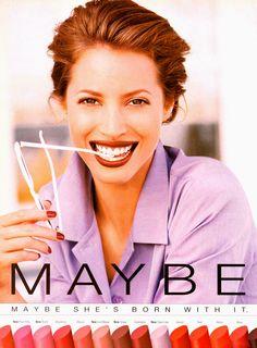 Maybelline adModel: Christy Turlington