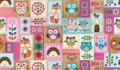 Woodland Critters Patchwork Fabric BACK IN STOCK