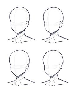 Human Drawing Base Sketch - Head Design Base Sketch And Lineart By Kitsunetsukiko Deviantart Anatomy Ref Not Mine Art Reference Poses Drawing Reference Sketch Base At Paintingval. Drawing Heads, Drawing Base, Human Drawing, Drawing Expressions, Art Drawings Sketches Simple, Art Reference Poses, Face Reference, Drawing Reference, Cartoon Art Styles