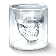Taza Mugs 1pcs 2.75 Inch 7cm Small Skull Head Shot Glass Cup Hot Special Transparent For Whiskey Wine Vodka Home Drinking Ware  #Affiliate